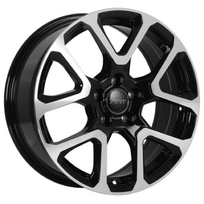Roue Art Replica Wheels Replica 127, noir lustre machine (17X7.5, 5x110, 65.1, déport 40)