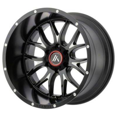 Roue Asanti Off Road AB807, noir machine (17X8.5, 5x114.3, 72.60, déport 25)