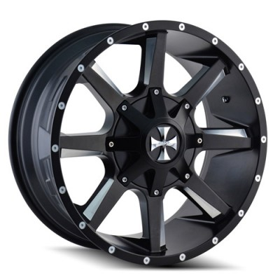 Calioffroad 9100 Busted Machiné Black / Noir Machiné, 22X12, 6x135/139.7 ,(déport/offset -44 ) 108