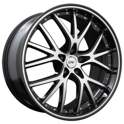 Roue Dai Alloys Excite, noir lustre machine (20X8.5, 5x114.3, 73.1, déport 35)