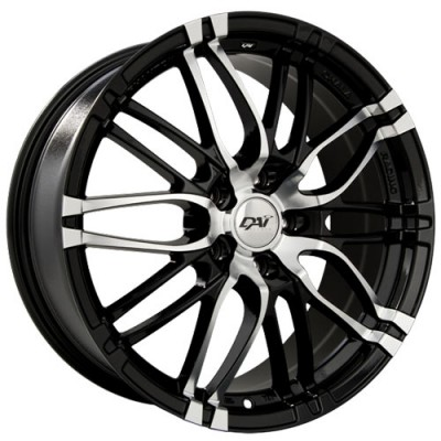 roue Dai Alloys Yakuza, noir lustre machine (18X8, 5x100, 73.1, déport 45)