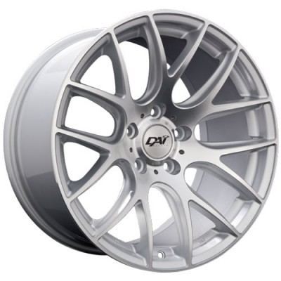 Roue Dai Alloys Autobahn, argent machine (18X9.5, 5x114.3, 73.1, déport 35)