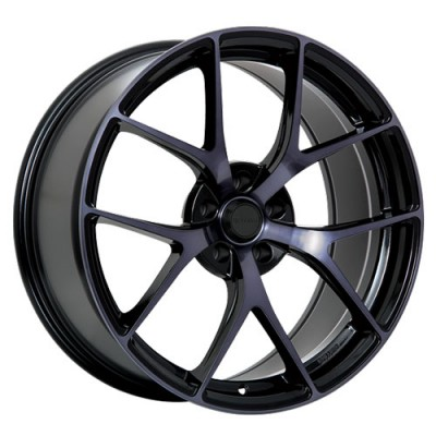 roue Ruffino Wheels Chronos, noir lustre machine (20X9, 5x114.3, 73.1, déport 40)