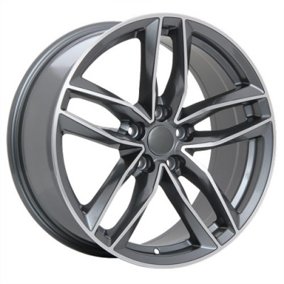 roue Art Replica Wheels R36, gris gunmetal machine (19X8.5, 5x112, 66.5, déport 45)