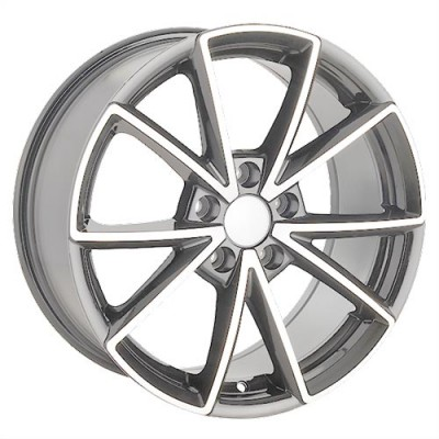 Roue Art Replica Wheels Replica 37, gris gunmetal machine (18X8, 5x112, 66.5, déport 40)