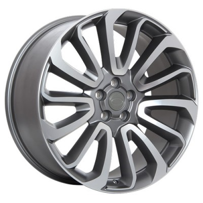 roue Art Replica Wheels R65, gris gunmetal machine (20X9, 5x120, 72.6, déport 49)