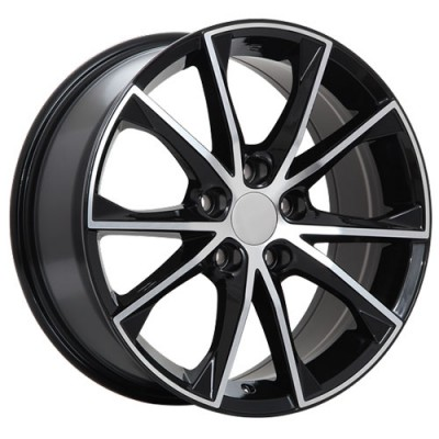 roue Art Replica Wheels R70, noir lustre machine (17X7.5, 5x114.3, 60.1, déport 40)