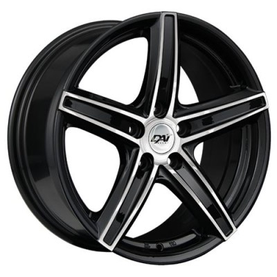 Roue Dai Alloys Revo, noir lustre machine (15X6.5, 5x114.3, 73.1, déport 38)