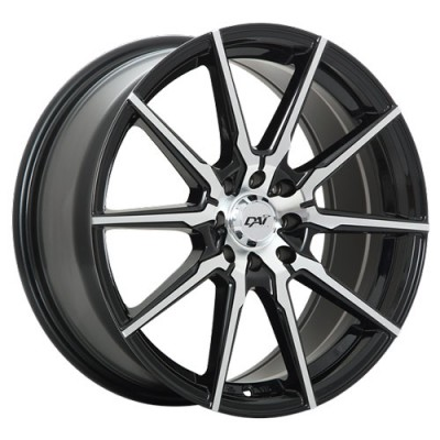 Roue Dai Alloys Raze, noir machine (15X6.5, 5x100, 73.1, déport 38)