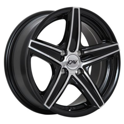 roue DAI Alloys Revo, noir lustre machine (15X6.5, 4x100, 73.1, déport 38)