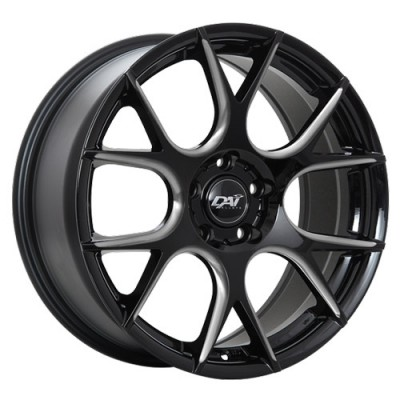 Roue Dai Alloys Venom, noir machine (17X7.5, 5x114.3, 73.1, déport 42)