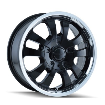 Dip D10 Black Machine Lip / Noir Rebord Machiné, 17X7.5, 6x139.7 ,(déport/offset 30 ) 108