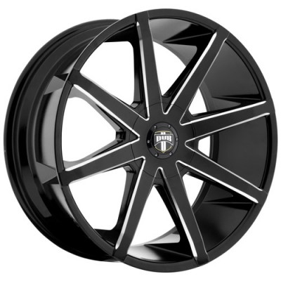 Roue DUB PushTr S109, noir machine (20X8.5, 6x135/139.7, 87.1, déport 30)