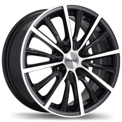 roue Fast Wheels A024, noir lustre machine (17X7, 4x100, 67.1, déport 40)