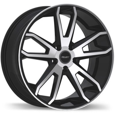 roue Fast Wheels Falcon, noir lustre machine (20X8.5, 5x120, 72.6, déport 35)
