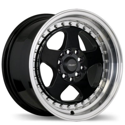 roue Fast Wheels Hippari, noir lustre machine (15X8, 4x100/114.3, 73, déport 28)