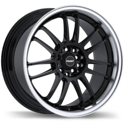 roue Fast Wheels Shibuya, noir lustre machine (15X6.5, 4x100/114.3, 72.6, déport 40)
