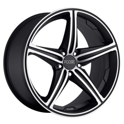roue FOOSE SPEED F136, noir machine (17X7.5, 5x120, 72.6, déport 40)