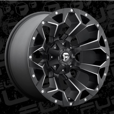 Roue FUEL Assault D546 L, noir machine (20X10, 8x170, 125.1, déport -18)