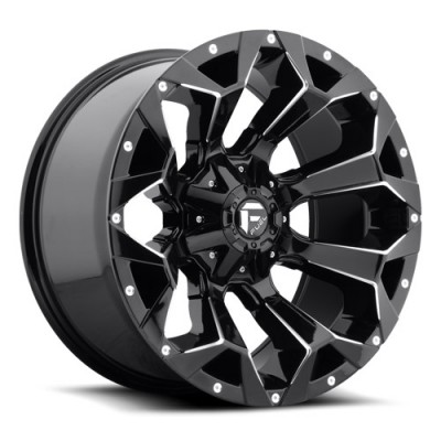 Roue FUEL Assault D576, noir lustre (18X9, 6x135/139.7, 106.4, déport 20)