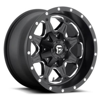 Roue FUEL Boost D534, noir machine (16X8, 5x114.3/127, 78.1, déport 1)
