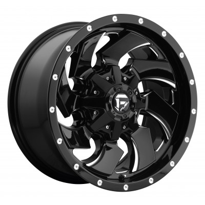 Roue FUEL Cleaver D574, noir machine (17X9, 8x170, 125.1, déport -12)