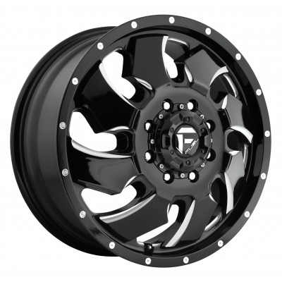 Roue FUEL Cleaver Dualie Front D574, noir machine (20X8.25, 8x170, 125.1, déport 105)