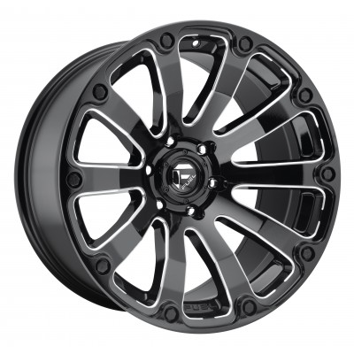 Roue FUEL Diesel D598, noir machine (17X9, 5x150, 110.3, déport 1)