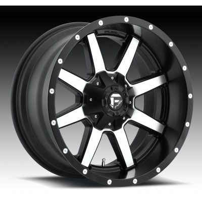 Roue FUEL Maverick D537, noir machine (17X10, 5x127/135, 87.1, déport -24)