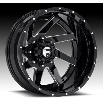 Roue FUEL Renegade D265, noir machine (20X10, 5x127/135, 87.1, déport -19)