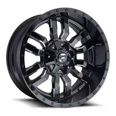 Roue FUEL Sledge D595, noir machine (20X10, 5x114.3/127, 78.1, déport -18)
