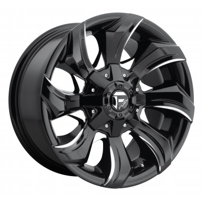 Roue FUEL Stryker D571, noir machine (17X9, 5x114.3/127, 78.1, déport 1)