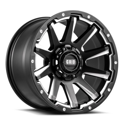 roue Grid GD05, noir mat machine (18X9, 5x114.3/127, 78.1, déport 15)