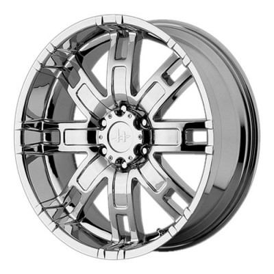 Helo HE835, Chrome Plated/Plaqué chrome, 22X9.5, 6x139.7, (offset/déport 18) ,106.25