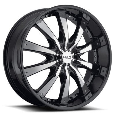 Roue Helo Wheels HE875, chrome noir (20X8.5, 6x135/139, 106.1, déport 38)