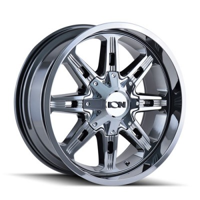Ion 184 PVD Chrome / Chrome Vaporise, 20X10, 6x135/139.7 ,(déport/offset -19 ) 108
