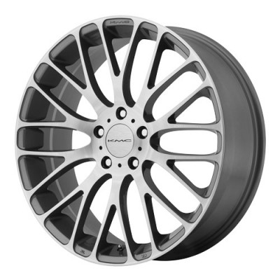 roue KMC Wheels Maze, gris machine (20X8.5, 5x114.3, 72.6, déport 40)
