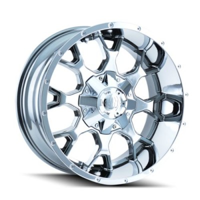roue Mayhem WARRIOR, chrome (20X9, 6x120/139.7, 78.1, déport 0)