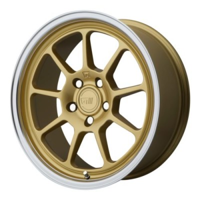 Roue Motegi MR135, or (17X8.5, 5x114.3, 72.60, déport 35)