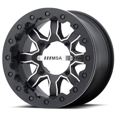 Roue Msa Offroad Wheels F1 R-Forged, noir machine (14X7, 4x137, 112, déport 0)