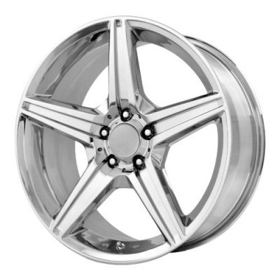 Roue OE Creations PR115, chrome (19X8.5, 5x112, 66.60, déport 35)