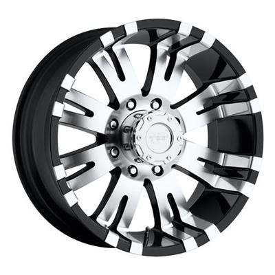 Pro-Comp - 8101 Series - 17x9 - 5-127 / Gloss Black w/ Accents