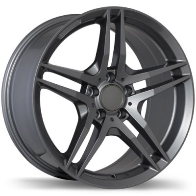 roue Replika Wheels R170, gris gunmetal (18X8.5, 5x112, 66.5, déport 32)