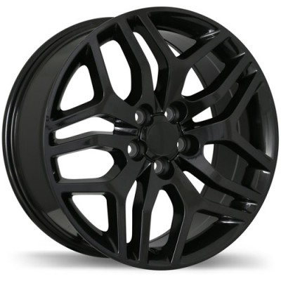 Replika Wheels R189 Gloss Black/Noir lustré , 18X8.0, 5x108, (offset/déport 45 ) 63.4 Land Rover