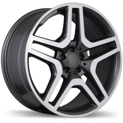 roue Replika R173A, gris gunmetal machine (19X8.5, 5x112, 66.5, déport 45)