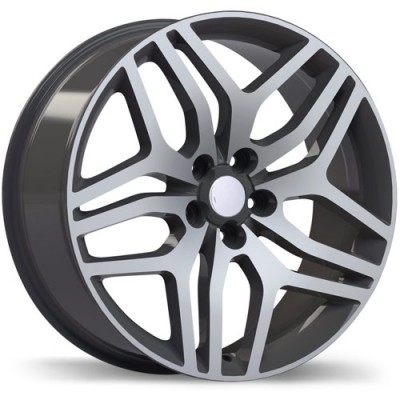 roue Replika R189, gris gunmetal machine (18X8, 5x108, 63.4, déport 45)