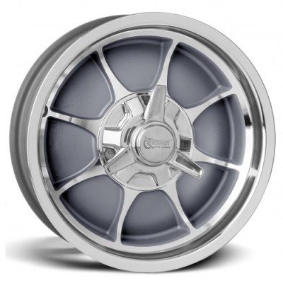 Roue Rocket Wheels Fire, gris machine (16X5, 5x120.7, 78.1, déport -15.8)