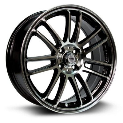 roue RTX Wheels Radial, noir machine (15X6.5, 4x100, 73.1, déport 38)
