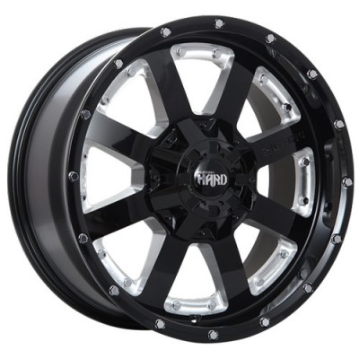Roue Ruffino Wheels Titan-HD, noir machine (20X9, 5x127/139.7, 77.8, déport -12)