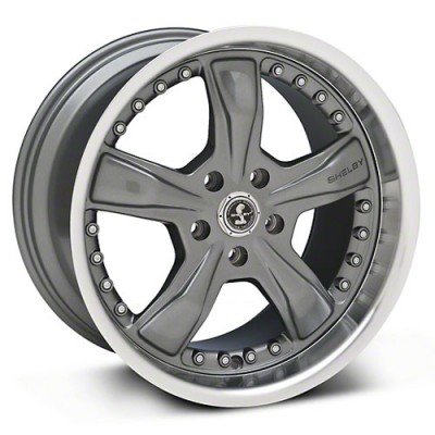 Shelby Razor Shelby, Gunmetal With Machined Lip/Métal fusilé avec rebord machiné, 20X9, 5x114.3, (offset/déport 30) ,72.6